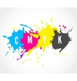 CMYK ink splashes logo vector image vector image