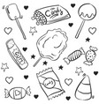 collection stock candy various doodles vector image vector image