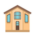 colorful flat residential house vector image vector image
