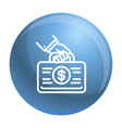 corruption money case icon outline style vector image