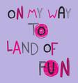 cute cartoon lettering vector image vector image