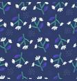 daisy flowers flat hand drawn seamless pattern vector image