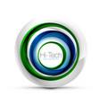 digital techno sphere web banner button or icon vector image