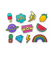 enamel pin clothing patch pin patches vector image vector image