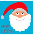 Face of Santa Claus Merry Christmas card vector image