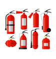 fire extinguishers colorful flat vector image vector image