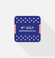 fourth july independence day united states of vector image vector image