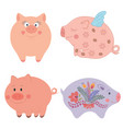 funny cartoon pigs vector image