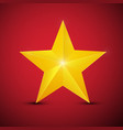 gold star on red background symbol vector image vector image