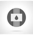 Gray round flat icon for water heating vector image vector image