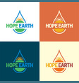 hope earth sun water logo and icon vector image