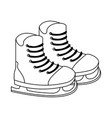 ice skates equipment vector image