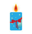 isolated christmas candle vector image vector image