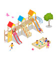 isometric kids boys and girls are playing vector image
