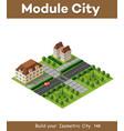 isometric retro 3d urban module city vector image vector image