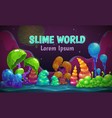 jelly forest concept magic slime world fantasy vector image vector image