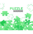 jigsaw puzzle banner background in green tints vector image