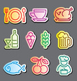 line food labels vector image vector image