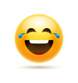 lol emoji icon smile face emoticon joke happy vector image vector image