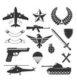 military emblem elements collection vector image vector image