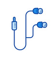 mobile earphones line icon vector image vector image