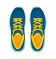 modern sneakers pair isolated on white background vector image vector image