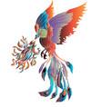 phoenix pastel isolate on white background vector image vector image