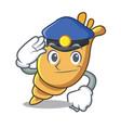 police exotic shell character cartoon vector image