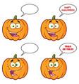 pumpkin cartoon character collection -2 vector image vector image