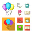 roller coaster ride balloon with basket caruelle vector image vector image