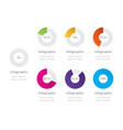 set circle percentage diagrams vector image vector image
