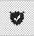 shield with check mark icon isolated vector image vector image