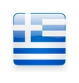 Square icon with flag of Greece vector image vector image