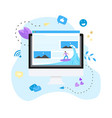 surfer surfing a wave web page vector image