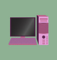 technology gadget in flat design computer vector image