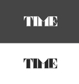 time logo made up of letters vector image vector image