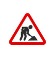 under construction road signs vector image vector image