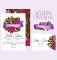 wedding invitation design template vector image vector image