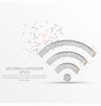 wifi signal low poly wire frame on white vector image