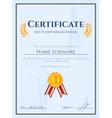 Winner certificate with seal vector image