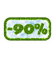 wobbler spring sale 90 percent off letters and vector image