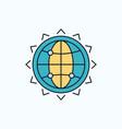 world globe seo business optimization flat icon vector image vector image