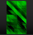 abstract green mosaic banner on black background vector image