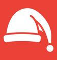 santa hat glyph icon new year and christmas xmas vector image