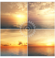 Ocean sunset mosaic backgrounds vector image