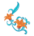 A combination of orange and blue border vector image vector image