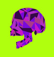 abstract colorful skull polygon art vector image vector image