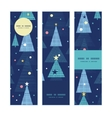 abstract holiday christmas trees vertical banners vector image