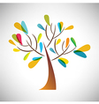 Abstract tree with colorful leaf vector image vector image