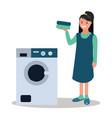 advertising washing powder a woman vector image